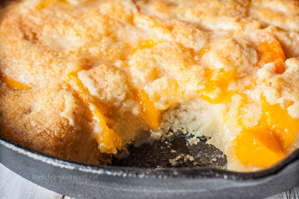 Two Two Easy Peach Cobbler - Almost all the ingredients are in quantities of two so it is easy to remember. One bite and you will be hooked!