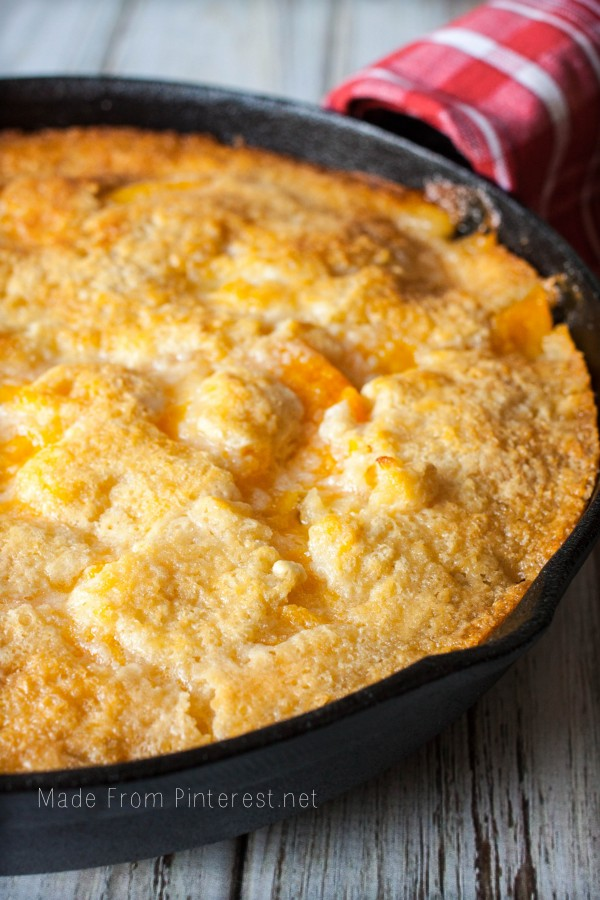 Easy Recipe Peach Cake Cobbler
