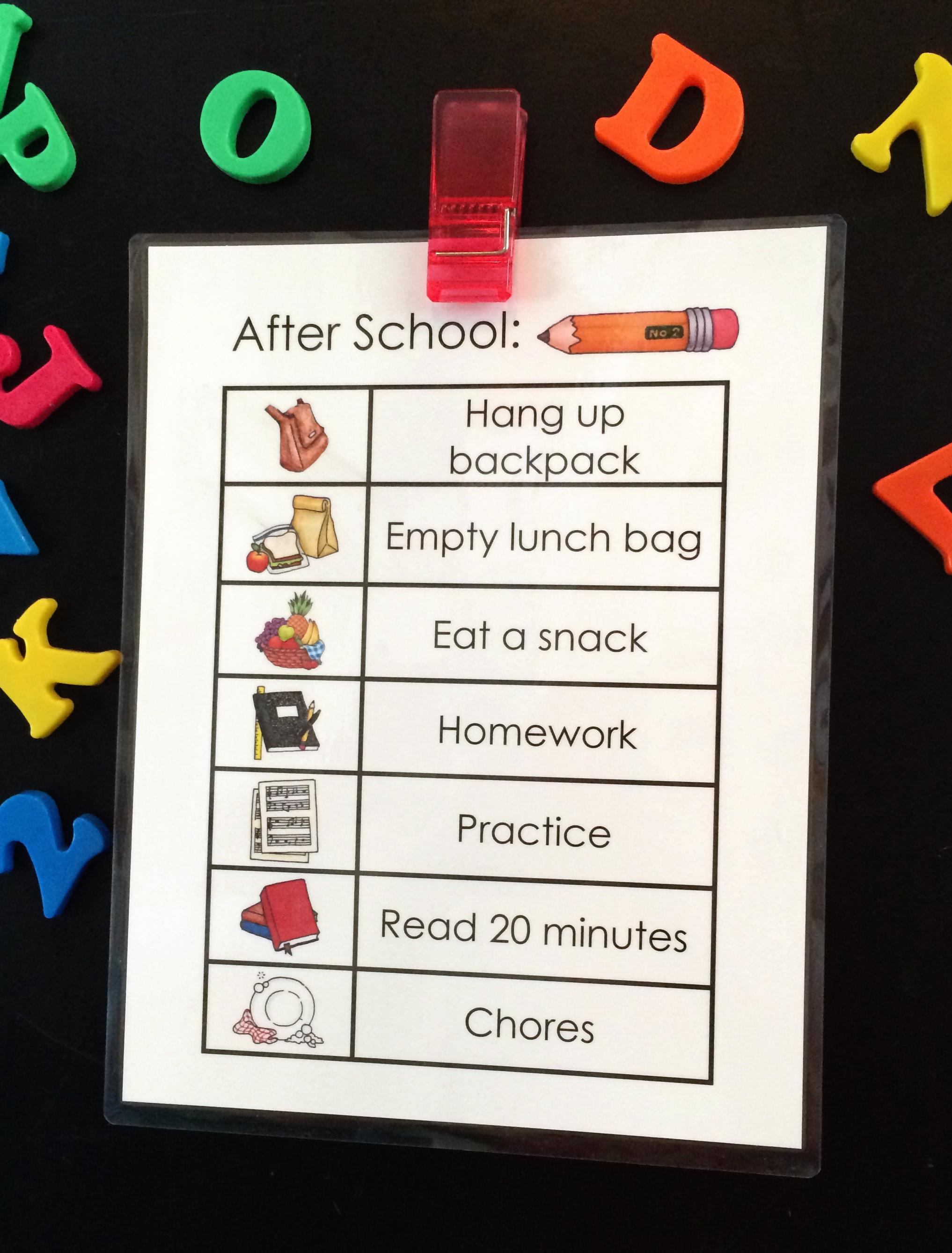 After School Job Chart Free Printable Tgif This