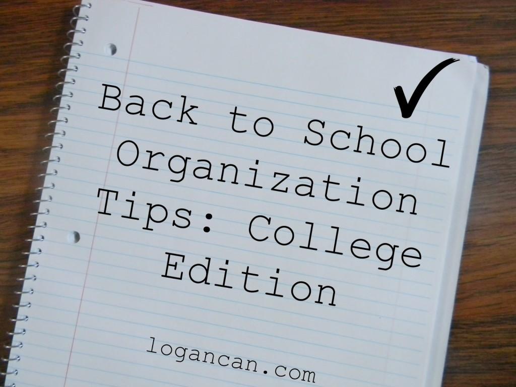 College-Organization-Tips