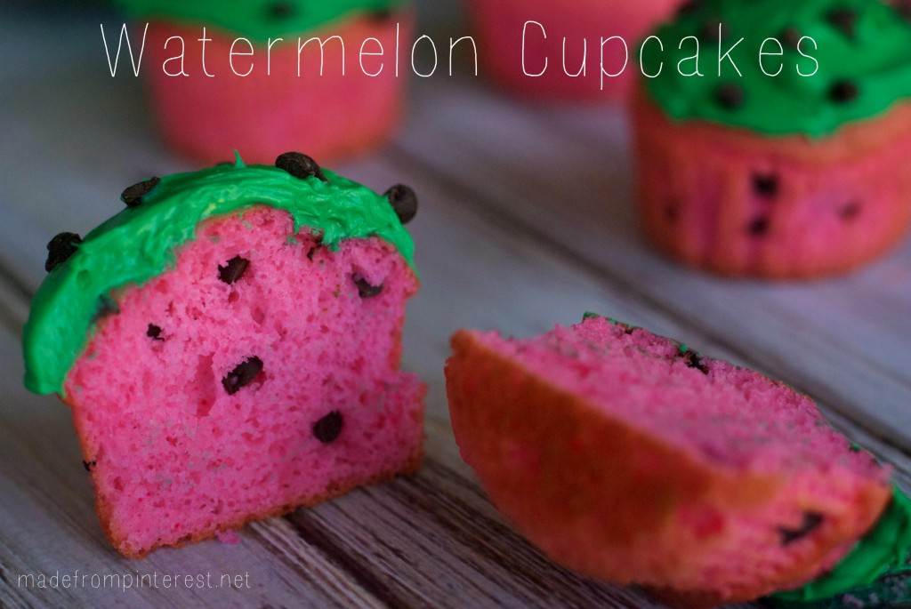 Darling Watermelon Cupcakes that are perfect for summer!