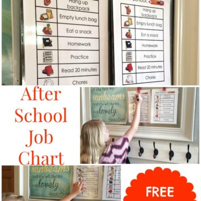 After School Job Chart – Free Printable!