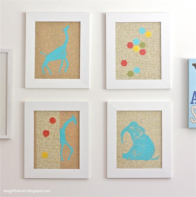 Glitter-Animal-Print-Wall-Art