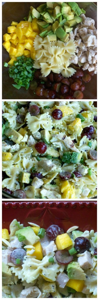 Mango Pasta Salad with Poppy Lime Dressing.  Your new go-to pasta salad!
