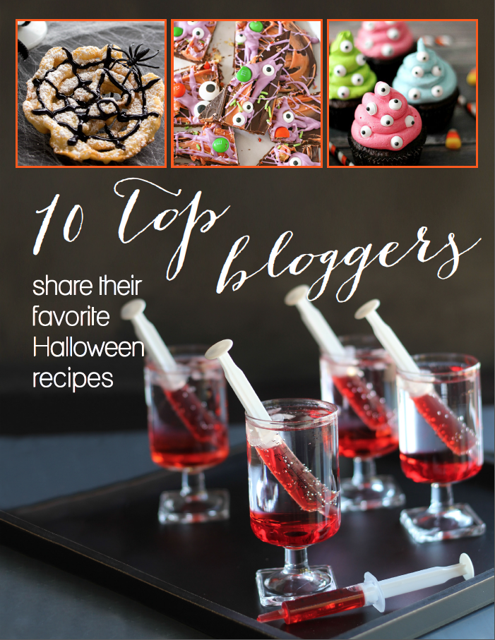 Bloody good vampire milkshake shots, polyjuice potion, and monster brains, oh my! Halloween is a time for tricks and treats! Engender the feelings of your childhood again through making and baking some Halloween themed foods. Now, brace yourselves because our 10 Top Bloggers Share Their Favorite Halloween Recipes ebook is scary good! Each blogger shares their frighteningly fun favorites for the holiday. With 58 tasty recipes to choose from, you are sure to find the perfect crafty treat to try for the Halloween season.