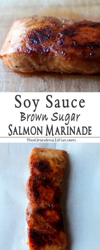 Soy Sauce Brown Sugar Marinade Even Salmon haters will love salmon with this Soy Sauce Brown Sugar Marinade .This Soy Sauce and Brown Sugar Salmon Marinade is not only an easy weeknight meal, but elegant enough to impress guests. Carmelized, healthy, and delicious! Once marinaded, the salmon is baked. A beautiful caramelized crust forms leaving the Salmon tender, moist and full of flavor. This is the easiest way to prepare and cook salmon. It is simple and it's presentation is elegant. Give it a try!