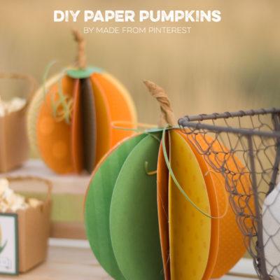 Paper Pumpkins ∣ Autumn Market Day Three