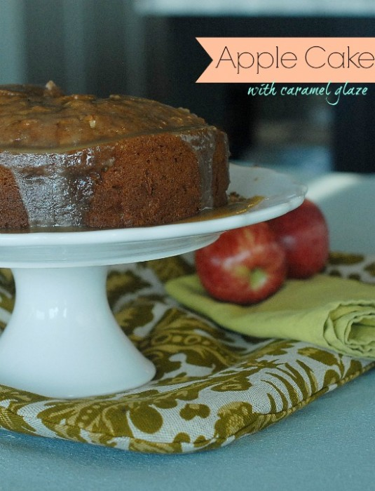 Apple-Cake-Caramel-Glaze
