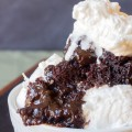 Easy Chocolate Molten Lava Cake - Made in the crock pot this is the easiest dessert to make. Comfort food at its best!
