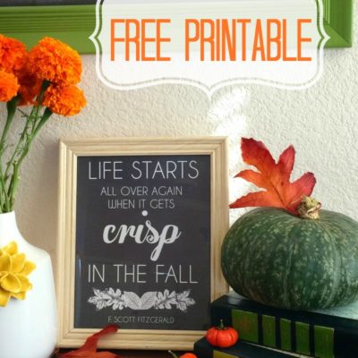 Life Begins in the Fall – FREE Printable!