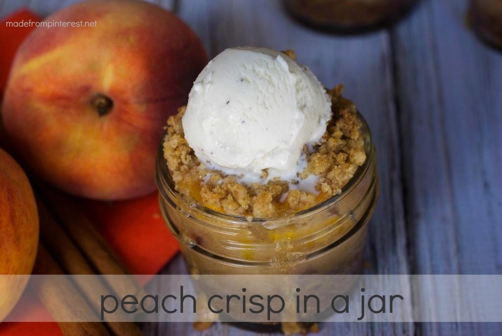 Peach Crisp in a Jar. Warm, cinnamony and so fallish!