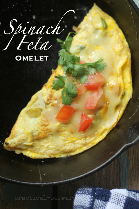 Spinach-Feta-Omelet