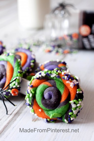 Twisted Halloween Sugar Cookies-They taste as good as they look!