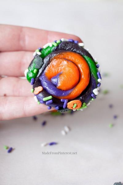 Twisted Halloween Sugar Cookies-roll in sprinkles