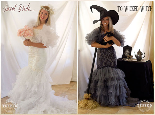 wicked witch costume diy wicked witch costume made from a thrift store wedding dress