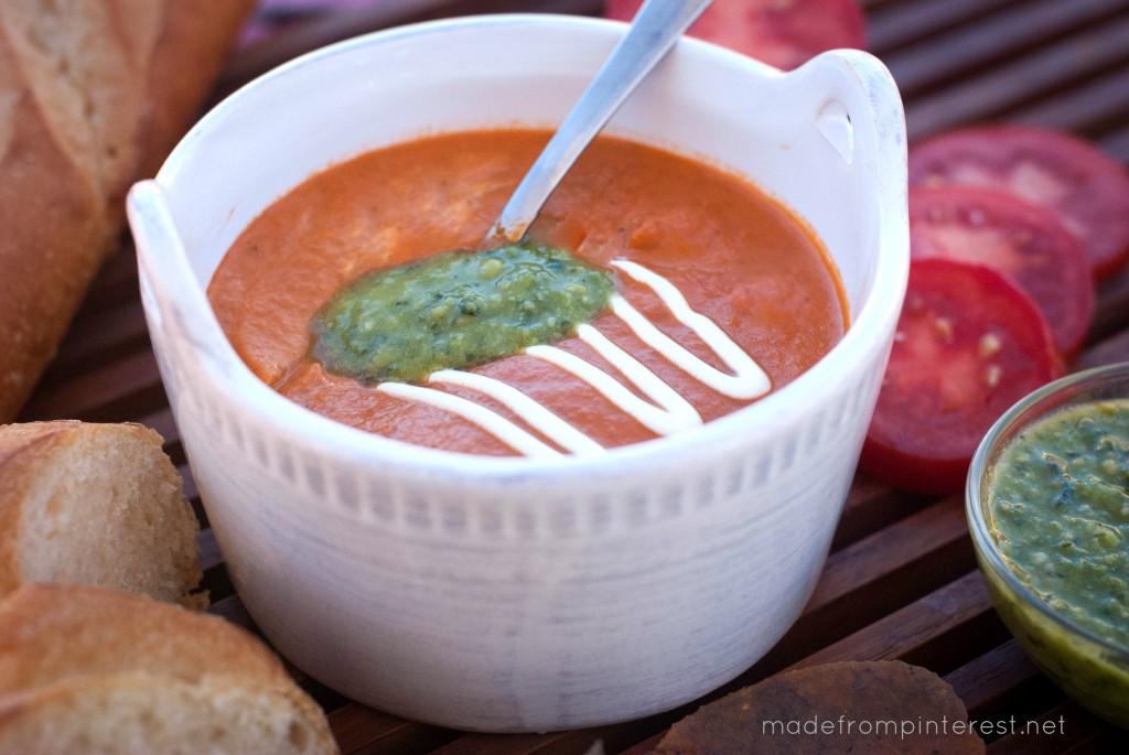 A perfect fall soup, this Tomato