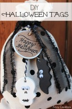 These DIY Halloween tags are great for wrapped presents, gift bags, even little bags of candy!