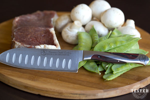 Tender Asian Beef & Hammer Stahl Giveaway! Enter to win a 4.5 inch 5-5 Santoku knife ($130 value) for yourself. Everyone who enters also gets a coupon to purchase this knife for 70% off!