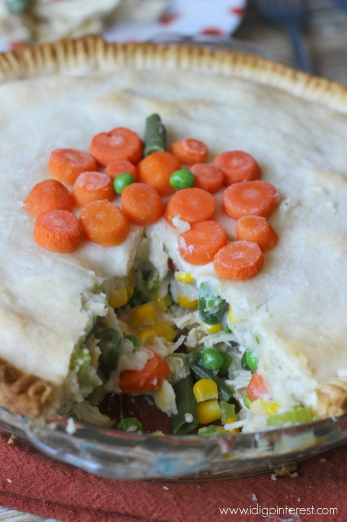 Chicken Pot Pie Halloween Style