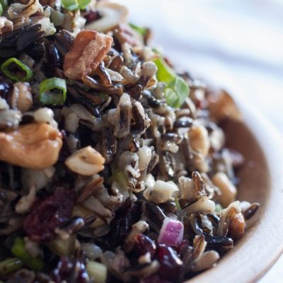 Cold Rice Salad for Fall