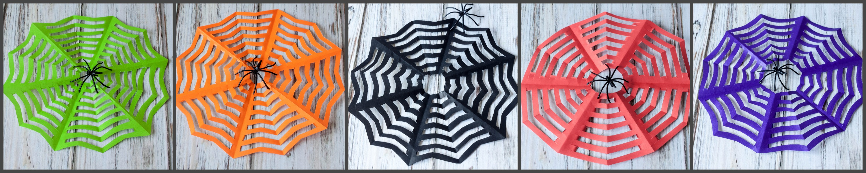 Kirigami Spider Webs for Halloween - So easy to make! Great for garland, gifts and decorations!