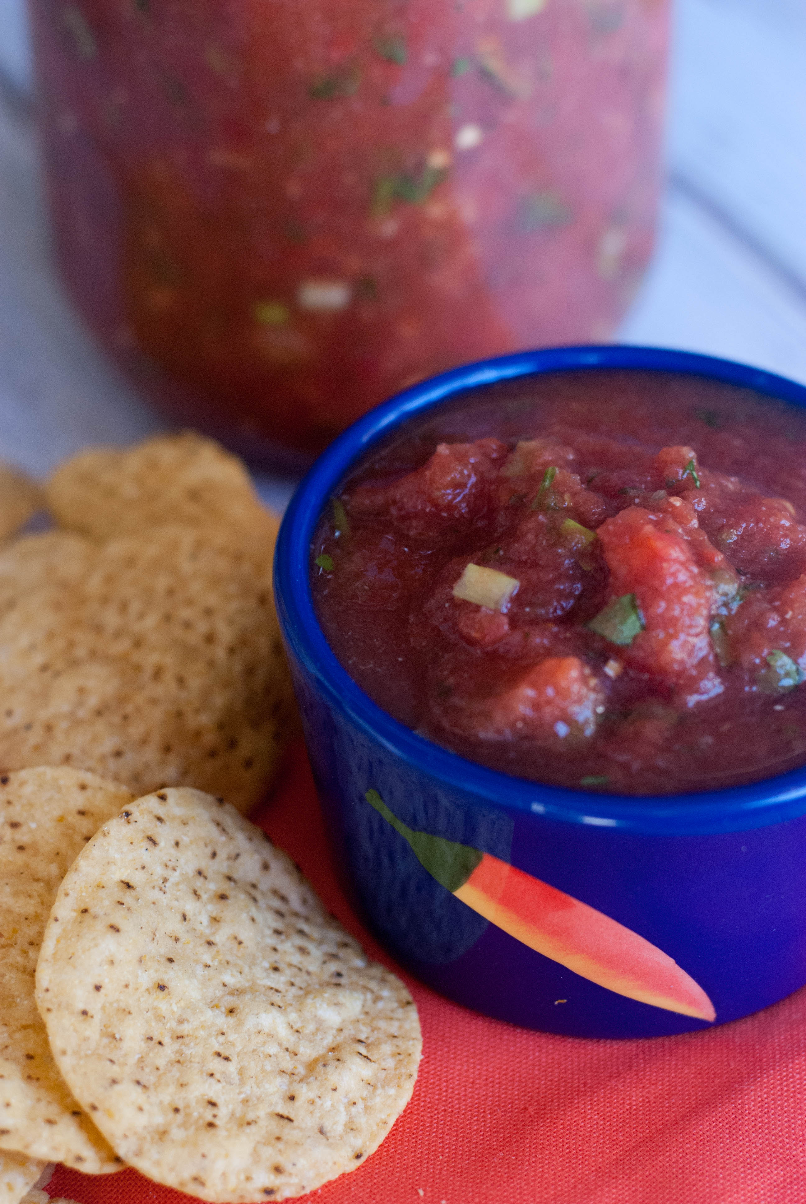 Mom's Best Salsa. Partly made with a blender, this is a mix between ...