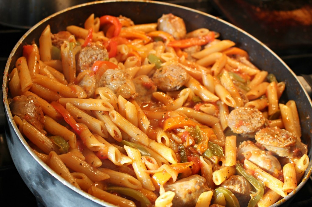 One Pan Italian Sausage and Peppers