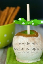 Super easy Apple Pie Caramel Apple. They truly taste like an Apple Pie!  Also includes tips for making the perfect Caramel Apple