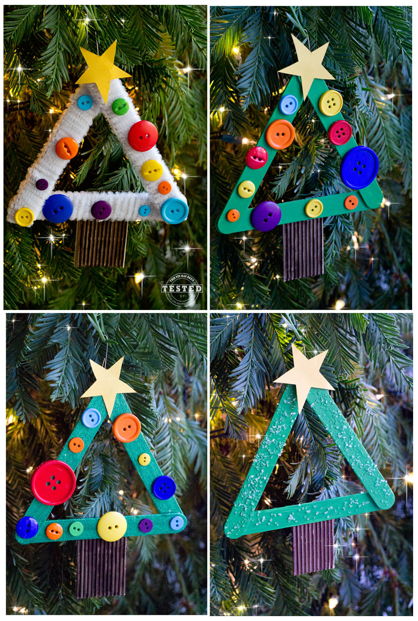 Diy kids christmas tree ornament tgif this grandma is fun Over the top christmas tree decorations