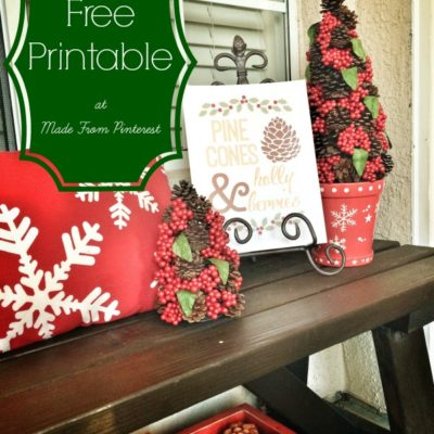Pine Cones and Holly Berries – FREE Printable!