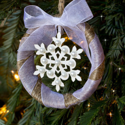 Mason Jar Ring Ornament