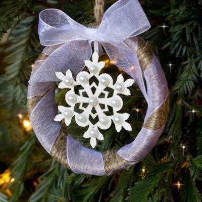 Mason Jar Ring Ornament