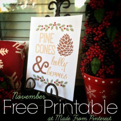 November Free Printable