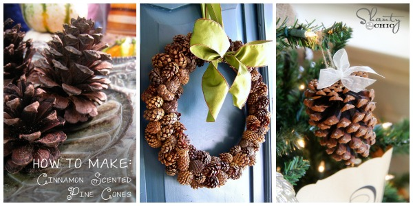 Pine Cone Craft Collage