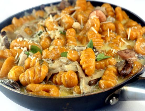 Pumpkin-Gnocchi-with-Mushrooms