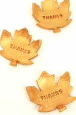 DIY Thanksgiving Leaves - Add an elegant look to your Thanksgiving with these beautiful fall leaves.