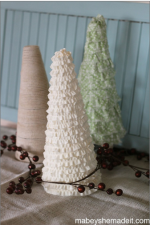 DIY Christmas Tree Craft - These beautiful Christmas trees are quick and easy to make. They are the perfect addition for your holiday decor!