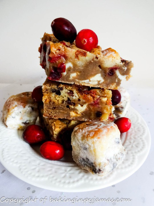 Stollen Blondies