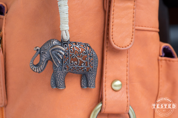 Keychain Crafts - This darling DIY  Elephant charm keychain is a quick and easy craft to make. It is a perfect last minute gift idea anyone would love!