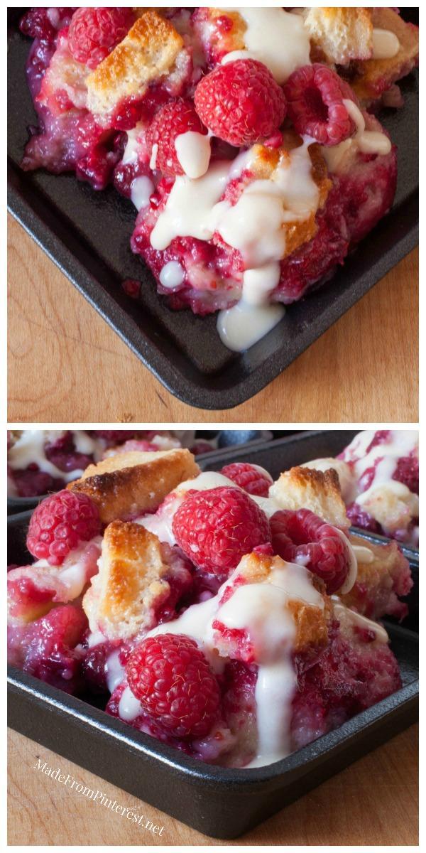 Rockin' Raspberry Bread Pudding - TGIF - This Grandma is Fun