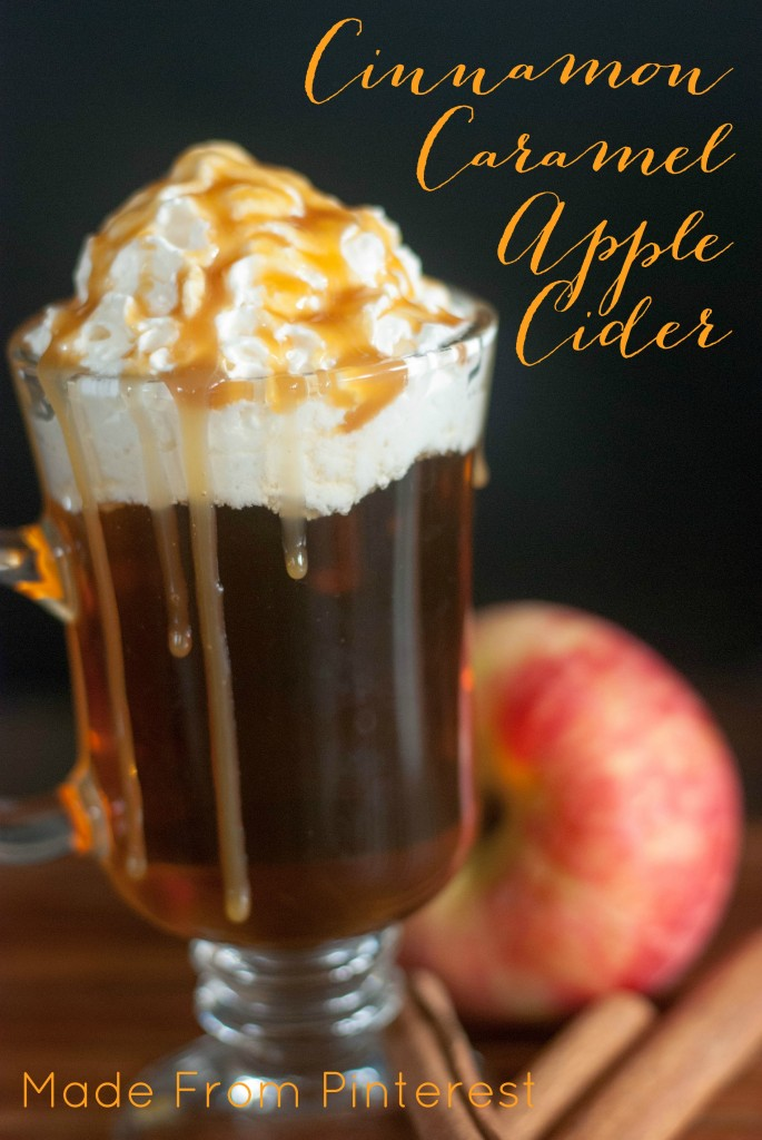 Recipe for Hot Apple Cider.  It is so much fun to make these fancy drinks by yourself at home.