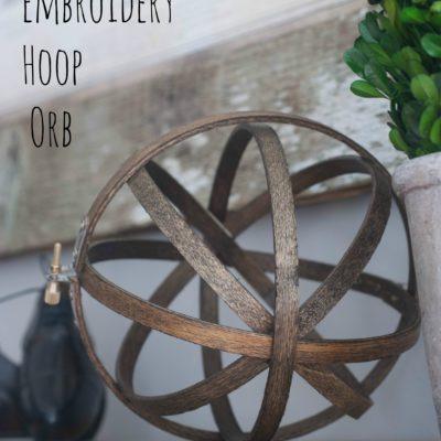 DIY Embroidery Hoop Orb