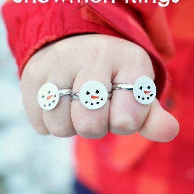 Simple Snowmen Rings