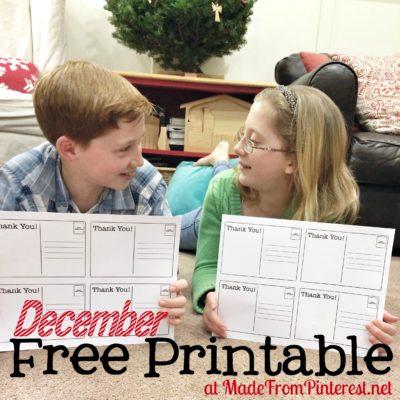 December Free Printable