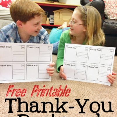 Thank You Notes Kids Can Make – FREE Printable
