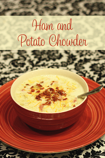 Ham and Potato Chowder - Warm up on a chilly day with some Ham and Potato Chowder topped with sour cream and bacon. The ultimate in comfort food!