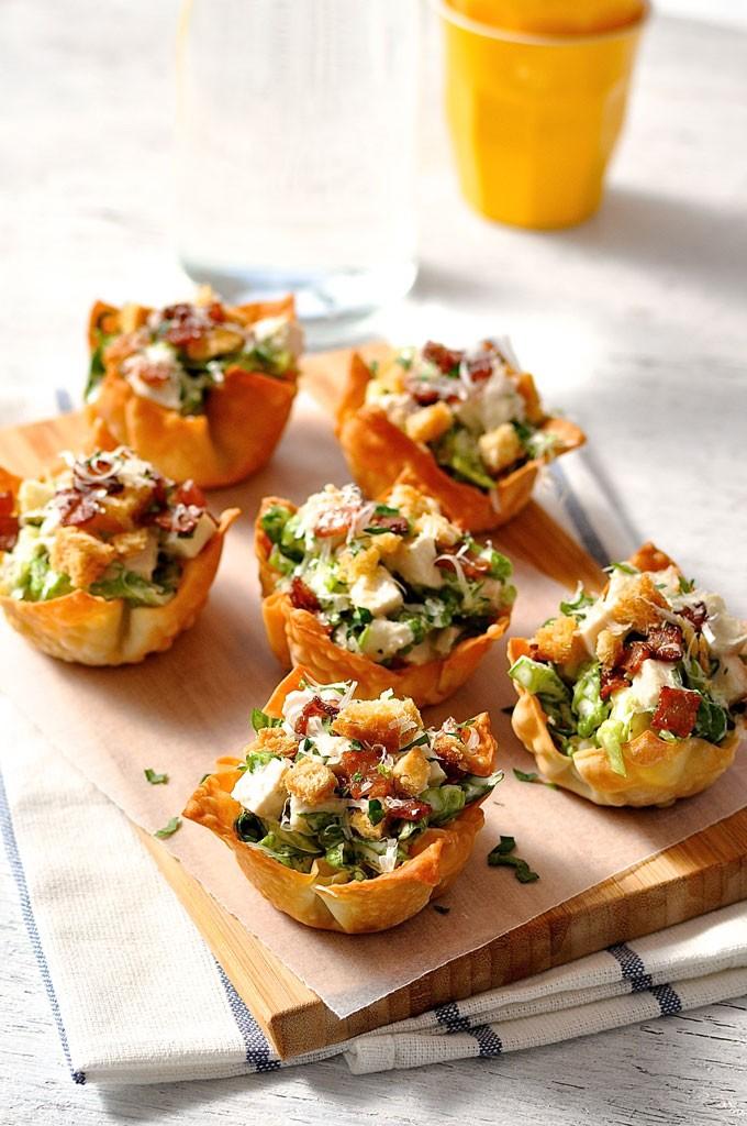 Caesar-Salad-Wonton-Cups