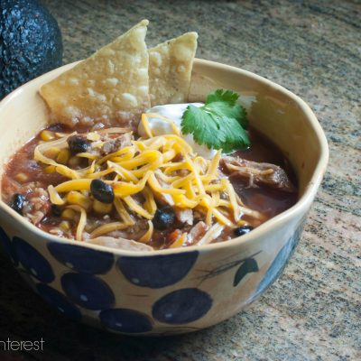 With just the right amount of spice, this Spicy Chicken Tortilla Soup warms the heart and soothes a hungry tummy!