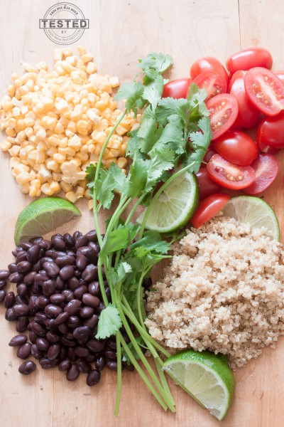 Healthy, vegan and packed with protein this Cilantro Lime Quinoa Salad bowl is easy to make in under 30 minutes!