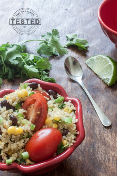 It only took 30 minutes to make this Cilantro Lime Quinoa Salad bowl ...
